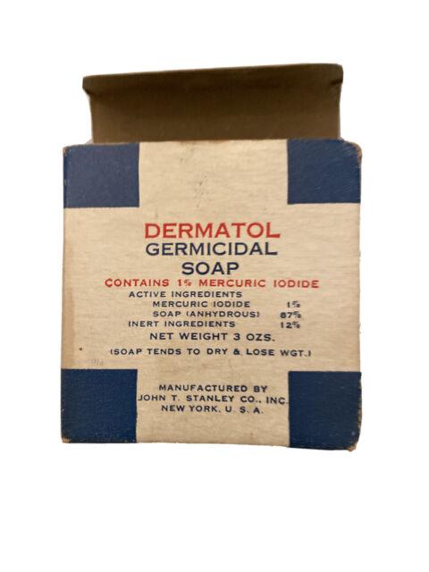 Vintage Dermatol Germicidal Soap original Box & Soap John ...