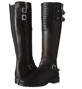 Pajar-Women-039-s-Avery-Equestrian-Boots-Fall-Leather-boots-below-knee-5-5-5