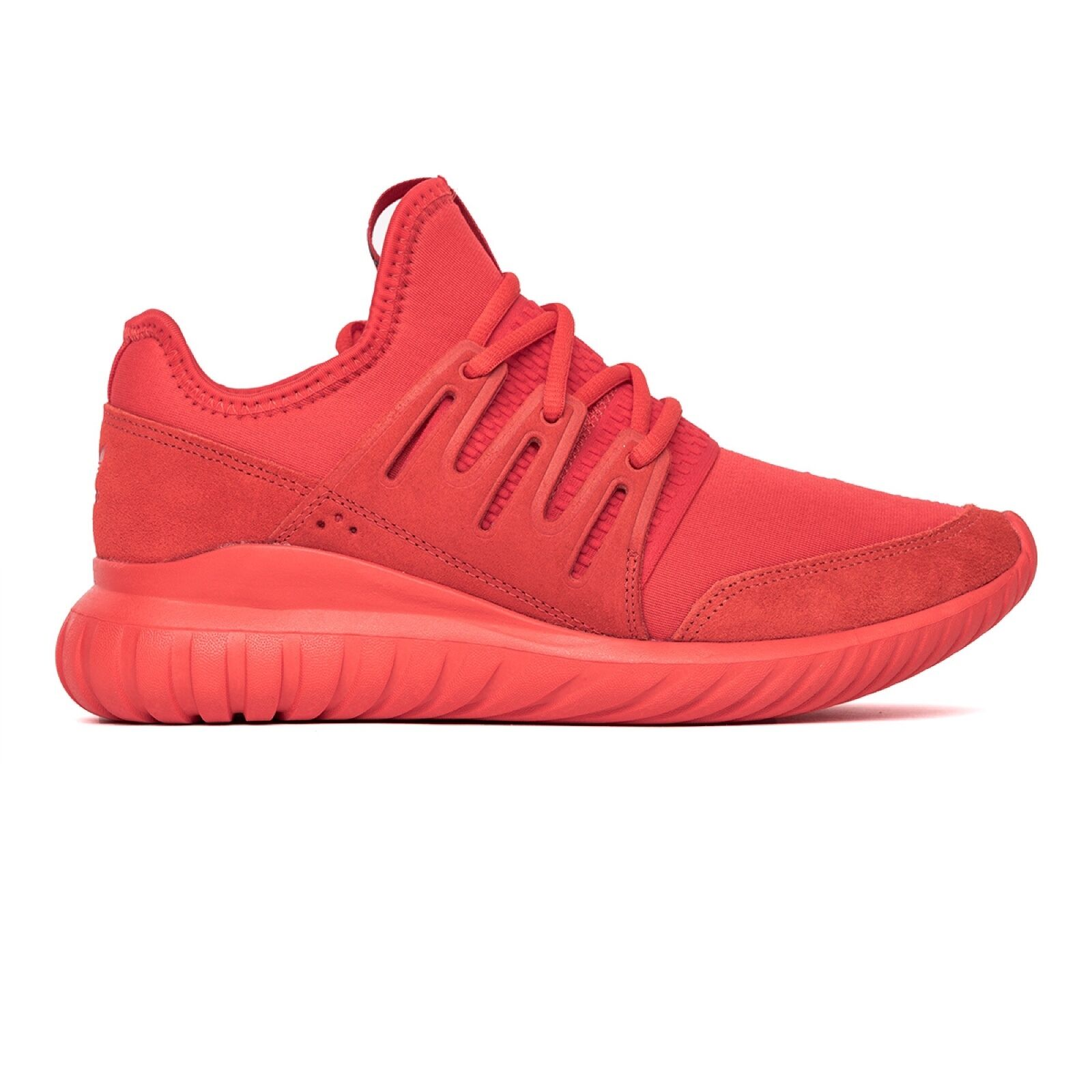 Men's Adidas Tubular Radial Solar Red Athletic Fashion Sneakers S80116 MSRP 110
