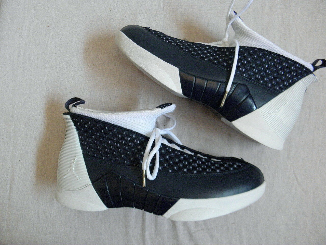 Nike Air Jordan XV 15 obsidian Blanc OG original colorway Taille 11 DS NEW braided