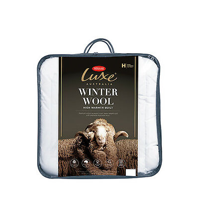 NEW Tontine Luxe Washable Winter Wool Quilt