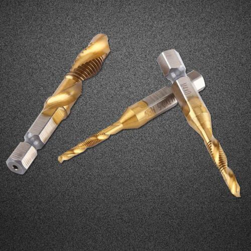 "6 pcs//kit HSS Foret Fraise Filetage M3-M10 1//4/"" Hexagonale Taraudage 0.5mm-1.5mm"