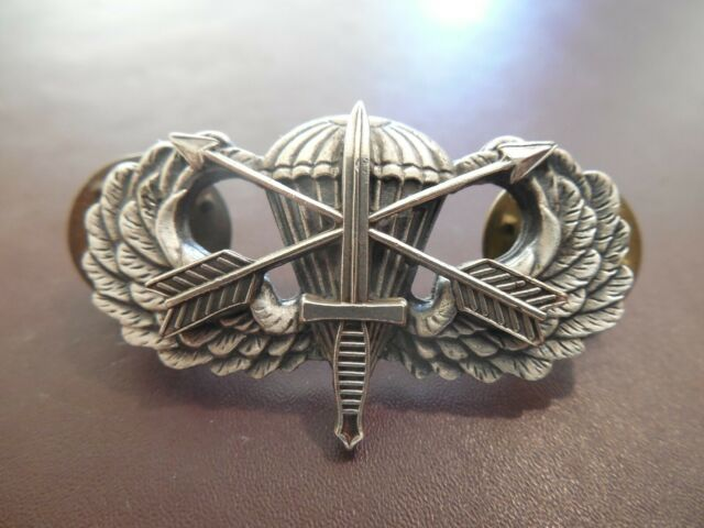 US Army Air Assault Badge Insignia Pin Subdued Metal Large Sized