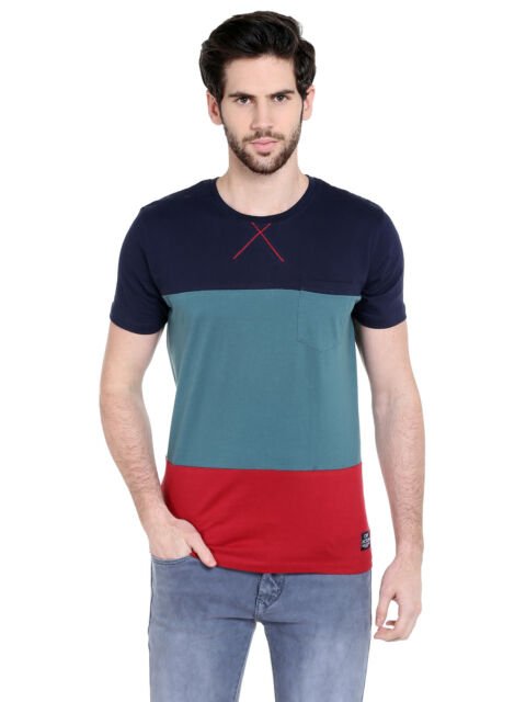 Cult Fiction Men's Multicolor Cotton T-Shirt (CFM01DN1031)