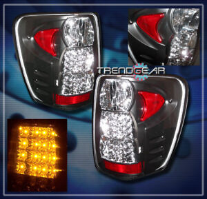 1999 2004 Jeep Grand Cherokee Led Tail Lights Lamp Black