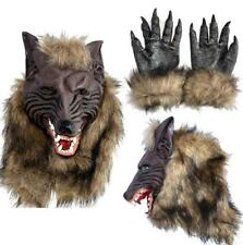 Werewolf Halloween Mask Big Bad Wolf Latex Head Wolf Mask Costume Accessory JL