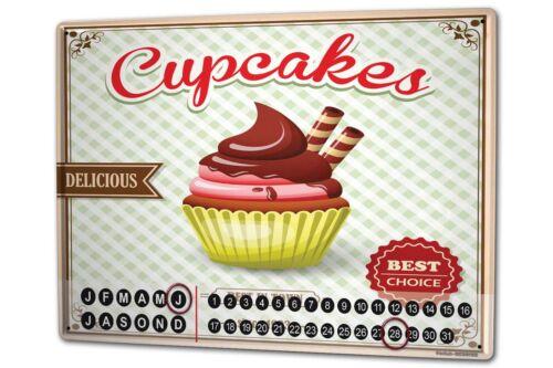 Dauer Wand Kalender Essen Restaurant Cupcakes Metall Magnet