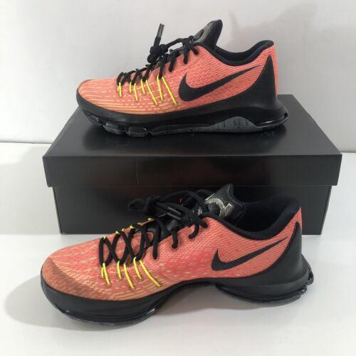 Nike KD 8 Kevin Durant Hunt/'s Hill Sunrise Crimson Orange Black 749375-807 SZ 10