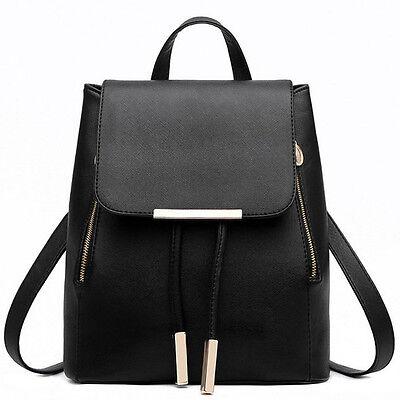 Women's PU Leather Satchel Shoulder Backpack School Rucksack Bags Travel Fashion