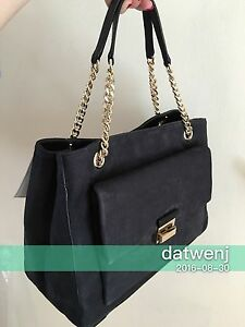 NWT-Kate-Spade-Annaleigh-Lafayette-Avenue-Suede-BLACK-Handbag-WKRU3952-399