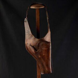 Holster Arm- Leder Vintage Diamond Brand Revolver Western Cowboy