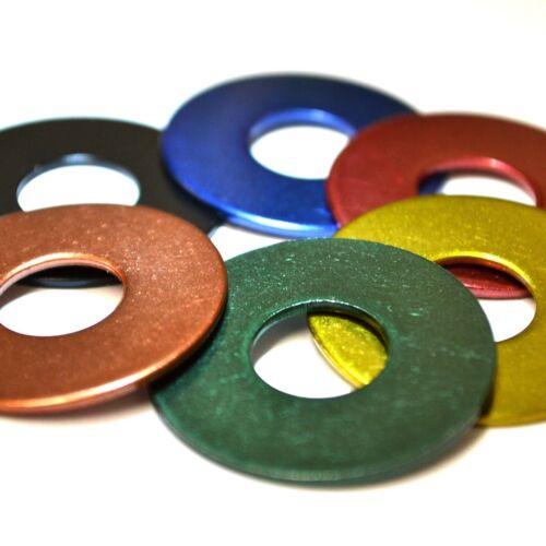 4mm 5mm 6mm 8mm Rosso Blu Nero Verde Rame Ottone Acciaio Inossidabile Penny Rondelle