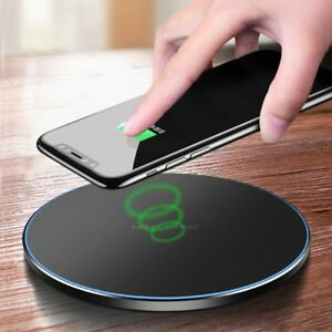 Fast-Qi-Wireless-Charger-Charging-Metal-Pad-For-iPhone-X-XR-XS-Plus-Max-8-LG-G7