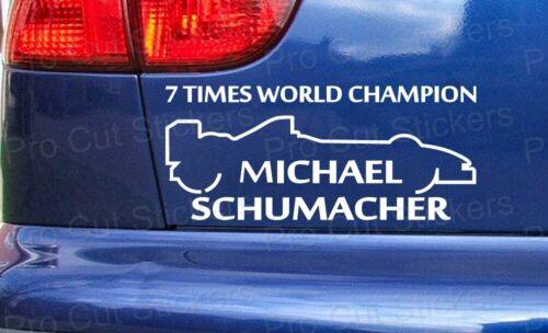 Michael Schumacher 7 Times World Champion Schumi Support Car Wall Sticker Decal