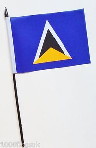 Saint-Lucia-1979-to-2002-Small-Hand-Waving-Flag