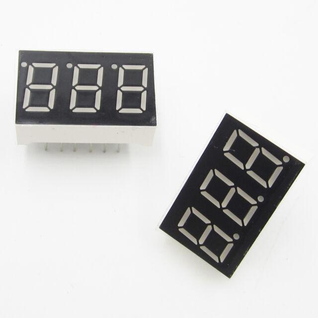 "10pcs 0.36 inch 4 digit led display 7 seg segment Common cathode 阴 white 0.36/"""