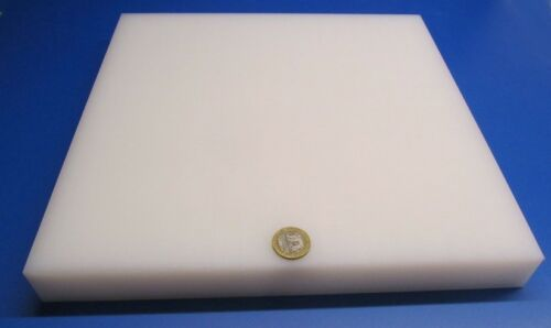 "1 1//4/"" Tivar UHMW PE Natural White Sheet 1.25/"" Thick x 12/"" x 12/"""
