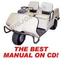 Harley Davidson Gas Golf Cart Manual On Cd 1963-1980 With Bonus