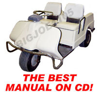 Harley Davidson Gas Golf Cart Manual On Cd 1963-1980 With Bonus