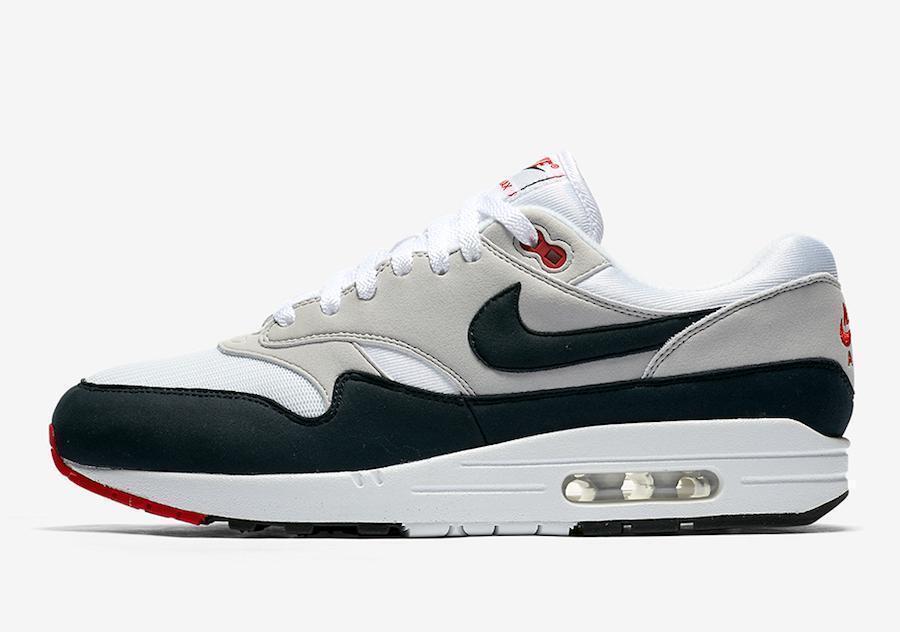 New Nike Air Max 1 Anniversary OG White Dark Obsidian Men's Size 11 908375 104
