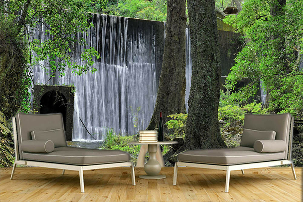 Mountain Waterfalls 3D Full Wall Mural Photo Wallpaper Printing Home Kids Decor