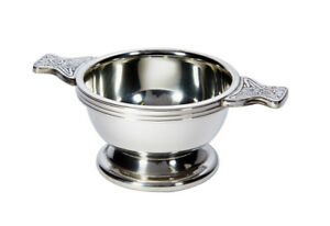 Personalised Pewter Scottish Quaich Bowl 50mm - Engrave With Your Message