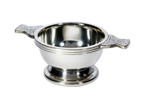 Personalised Pewter Scottish Quaich Bowl 50mm Engrave With Your Message