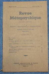 Revue-METAPSYCHIQUE-n-1-de-1948-Hypnose-Mediumnite-Telepathie