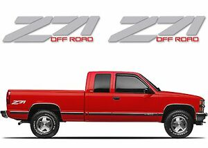 Pair silver z71 decals for 1988 1998 chevrolet gmc for Does ebay motors ship cars