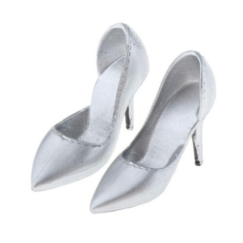 "1//6 Scale 12/"" Female Figure High Heeled Shoes High-heeled Black//White//Red"