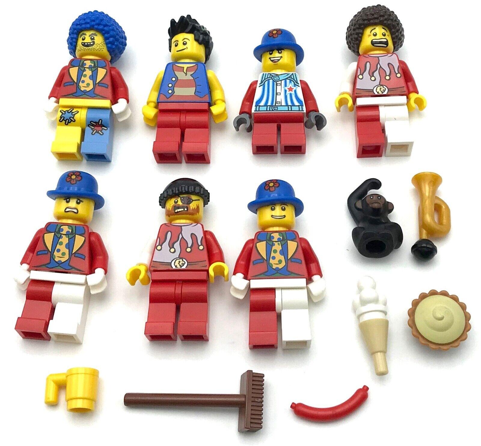 Lego 7 Nuevo Circo Payaso Act Minifiguras para Hombre Gente Figuras