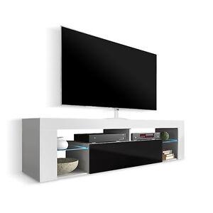 Mobile moderno per televisore Newton, porta tv design bianco,nero ...