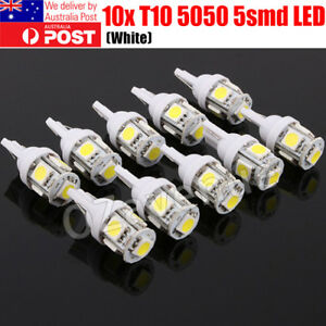 10x-T10-LED-W5W-194-168-5SMD-Car-Wedge-Tail-Parking-Plate-Light-Bulb-12V-WHITE