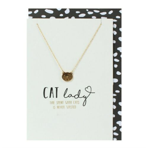 Cat Lady /& Nickle Free Cat Necklace Card
