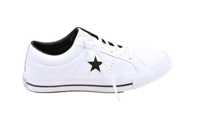 Converse One Star Leather White Black