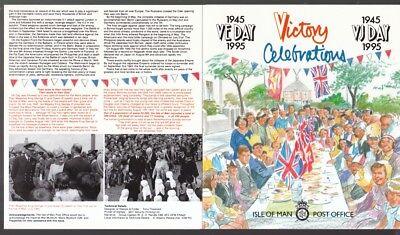 629-636 Beendigung Weltkrieg Tropf-Trocken Minr Isle Of Man 1995 Postfrisch Faltkarte Klb