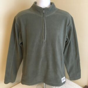 Life-is-Good-Mens-Fleece-Pullover-Jacket-1-2-Zip-Gray-Small-Free-Shipping