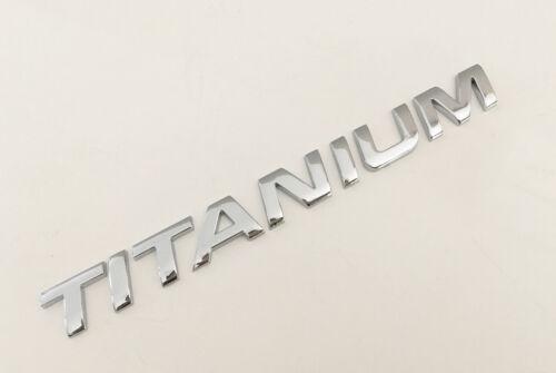 1x TITANIUM Black chrome 3D Emblem Badge Alphabet Letter number Car DIY word