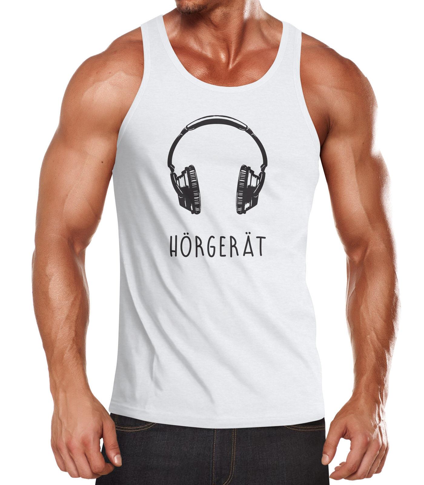 Top Muscle Casque Débardeur Hommes Shirt Tank Appareil Auditif tqw4tIx0v
