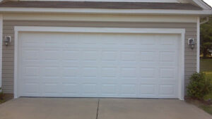 Garage door 16 39 x8 39 vinyl back insulated ebay for 16x8 garage door prices
