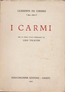 CLEMENTE DE CAESARIS-1810-1877-I CARMI-PENNE-ABRUZZO-LUIGI POLACCHI-RISORGIMENTO
