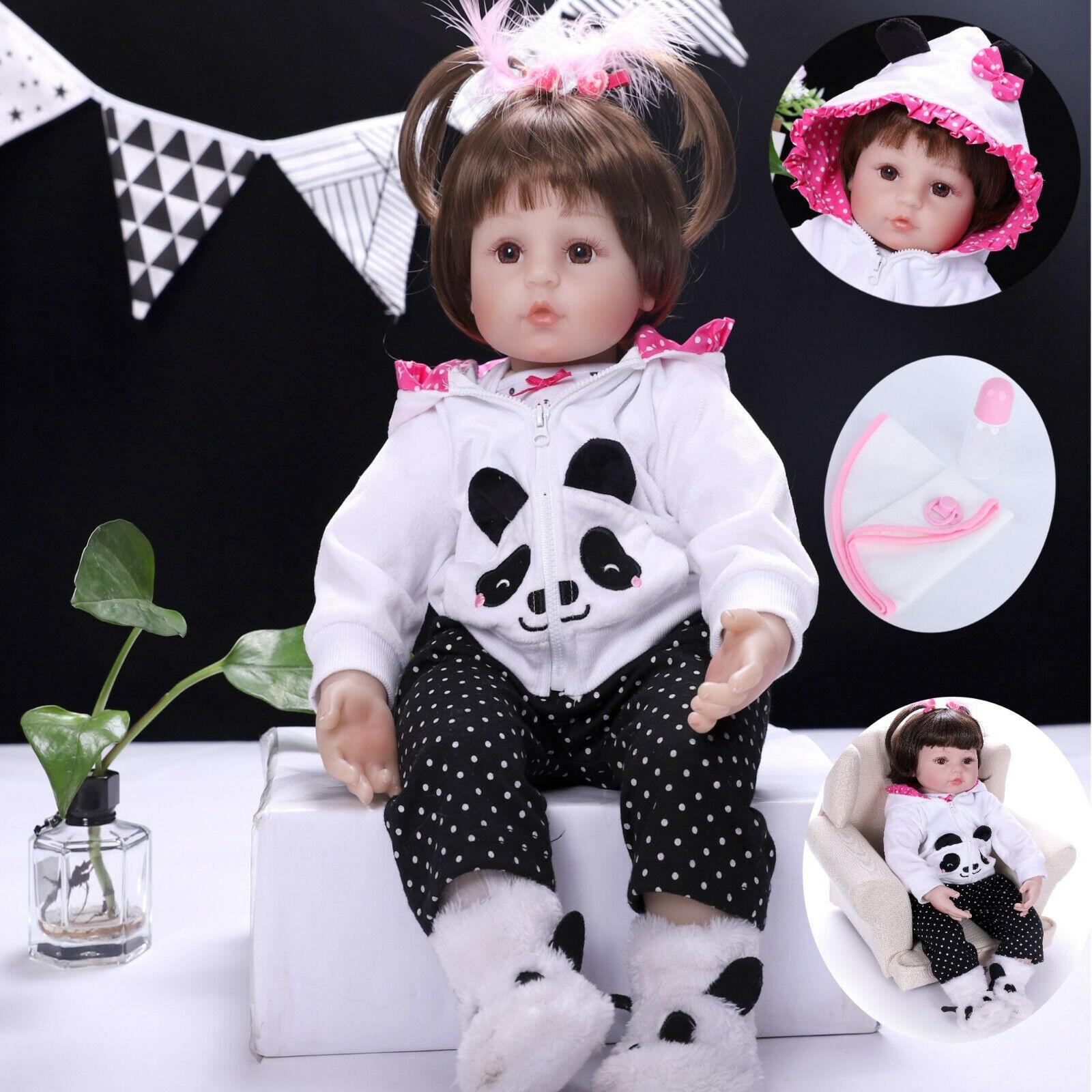 "24""Rebron Dolls Handmade Vinyl Silicone Realistic Newborn Girl Doll Gift+clothes"