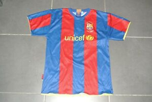 Maillot-F-C-BARCELONE-BARCELONA-Barca-MESSI-2007-50ans-Camp-Nou-taille-S