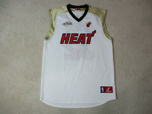 huge selection of a4c92 659d9 Details about Majestic Shaquille O'Neal Miami Heat Basketball Jersey Adult  Large White Gold