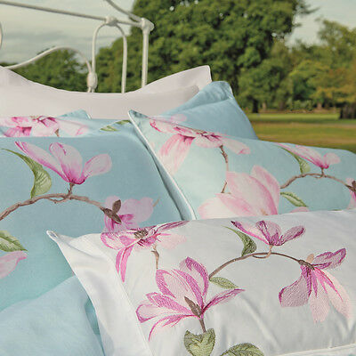 Kew Gardens Magnolia luxury embroidered cushion cover