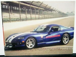 Dayton Auto Show >> Details About 1996 Dodge Viper Indianapolis 500 Pace Car Postcard From 1995 Dayton Auto Show