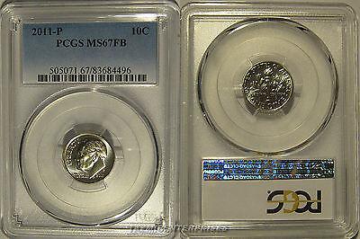 2012 P /& D Roosevelt Dime 2 Coin Set 10c PCGS MS66FB Full Bands