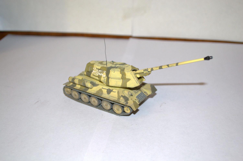 1 72 PROFESSIONAL BUILT MODEL EGYPTIAN SPG T-34 BS-3 100mm