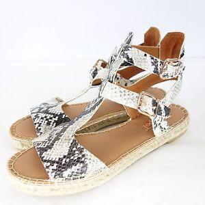 Maypol-Ladies-Summer-Shoes-Espadrilles-Sandals-Leather-Animal-Flat-Size-41