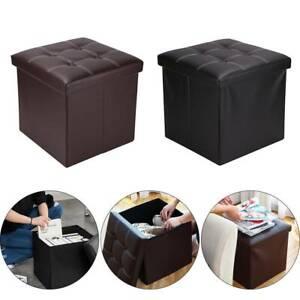 Folding-Storage-Ottoman-Seat-Stool-Footstool-Toy-Storage-Box-Bedroom-Living-Room